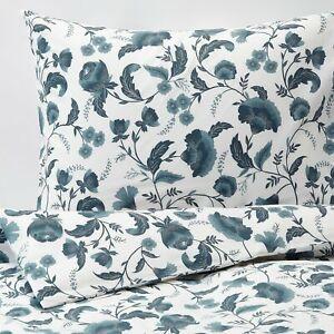 IKEA KÄLLFRÄNE Single Size Duvet Cover & Pillowcase White/Blue