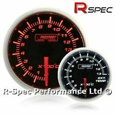 Prosport 52mm Super Amber / White Stepper Motor Exhaust Temp Temperature Gauge