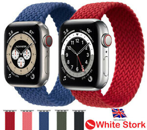 Nylon Braided Solo Loop Strap for Apple Watch Series 6 SE 5 4 3 2 1