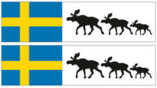 Kfz-Aufkleber Flagge Schweden/Elch Set RA