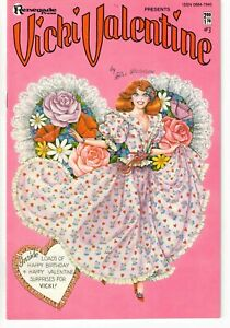 VICKI VALENTINE #3 1986 GOOD GIRL ART PAPER DOLLS COPPER AGE VFN/NM!