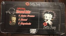 Betty Boop travel kitz comes w/ 1 autoframe, 1 decal & 1 keychain
