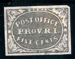 USAstamps Unused VF US 1846 Post Office Prov. R. I. Sctt 10x1 Re-Print MH + Cert