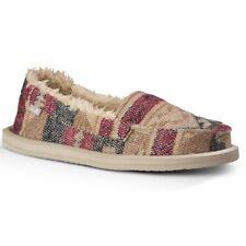 Sanuk Women's Shorty TX Chill Slip On Loafers Natural Multi Blanket Size 5