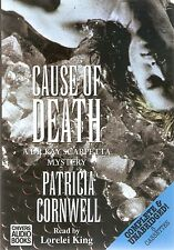 Patricia Cornwell - Cause of Death (8xCass A/Book 1996) Scarpetta 7; FREE UK P&P