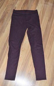 Victoria's Secret PINK Leggings Mauve & Black Checkered Print Sz S P