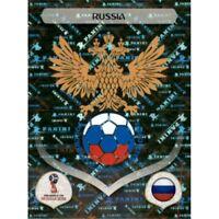 Panini WM 2018 32 Russland Russia World Cup WC 18Wappen Logo Glitzer Foil
