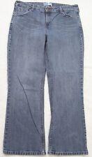 """Levis Signature 14 Fourteen Solid Blue Denim Women's Jeans Boot Cut 34"""" x 28"""""""
