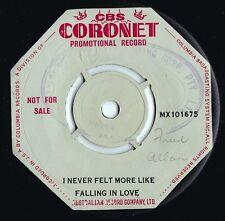 Tony Bennett ORIG OZ Promo 45 I never felt more like falling in love EX '57 Pop