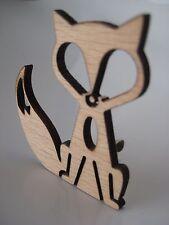 Fox Brooch - Laser Cut Wooden Fox