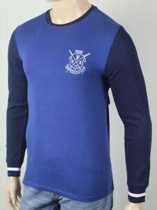 Polo Ralph Lauren Blue Navy Crewneck Waffle Sleep Shirt Rowing Club Crest NWT