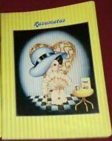 QUADERNO SCUOLA VINTAGE NOTEBOOK ANNI 80 CIOCCOLATO CACAO NESQUIK,RAZAMATAZ GIRL