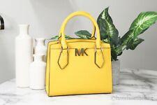 Michael Kors Mott Medium Citrus Yellow Messenger Crossbody Satchel Handbag