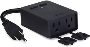 WYZE Outdoor Smart Plug with Dual Outlets Energy Monitoring IP64, WiFi Bluetooth
