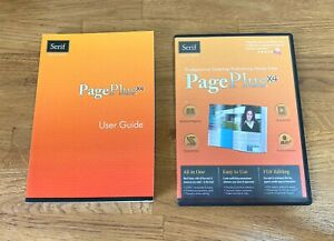 Serif Pageplus X4 desktop publishing user guide, program CD and resource DVD