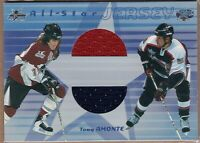 TONY AMONTE 2001/02 ITG In The Game Be A Player ALL STAR GAME JERSEY Card RARE!