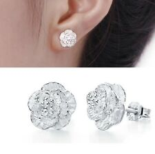 925 Sterling Silver Flower Earring Ear Stud
