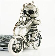 Fashion Creative Bike Skull Purse Bag Rubber KeyChain Keyring Gift Key Chain