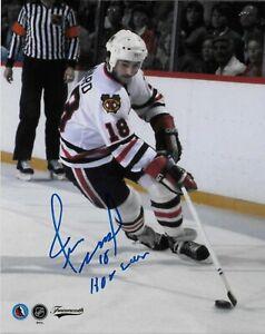 Autographed Chicago Blackhawks Hall of Famer Denis Savard 8x10 Photo #2 Original