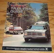 Original 1984 GMC Truck Trailering Guide Sales Brochure 84 Pickup Caballero