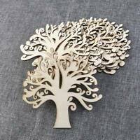 10Pcs Wooden Tree Shape Gift Tag Hanging Blank Decorations Festival Party Supply