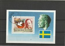 Niger 1977 Nobel Prize Mini Sheet CTO