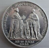 Geschichtsdoppeltaler v. 1848 Ludwig I 1825-1848 mit Randschrift 3 1/2 Gulden