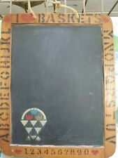 "Vintage Slate Blackboard Raco Made in Portugal 7-1/2"" x 9-1/2"" Chalk Board"