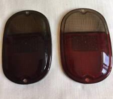 VW TYPE 2 BUS T2 1962-1971 REAR TAIL LIGHT LENS 2pcs DARK RED WHITE LEFT RIGHT