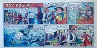 Roy Rogers by Mike Arens - full color Sunday comic page - January 24, 1954