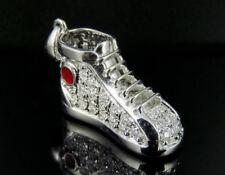 """14K White Gold Diamond Designer Sneaker Pendant 2/3CT. 0.75"""""""