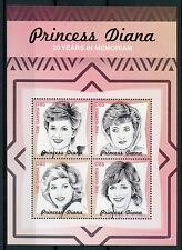 Gambia 2017 MNH Princess Diana 20th Memorial Anniv 4v M/S Royalty Stamps