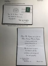 1940 Manchester England Mourning Cover To Newport Isle Of Wight Letter Enclosed