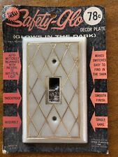 VINTAGE Safety Glo Light Switch GLOW IN THE DARK Wall Plate Mint In Packaging