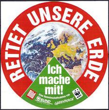 Aufkleber - Rettet unsere Erde - Greenpeace - BUND - Bild - WWF (42)