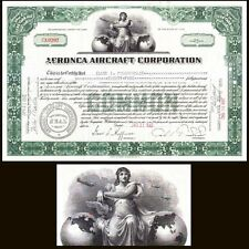 Aeronca Aircraft Corporation OH 1942 Stock Certificate