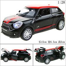 1:28 Mini Cooper PACEMAN Alloy Diecast Car Model Toy Vehicle Sound&Light Black