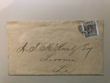 1861 Confederate cover New Oreans Postmaster Provisional Scott 62x3