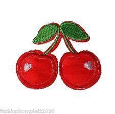 2 Aufbügler Cherry, Bügelbild, Aufnäher, Kirschen