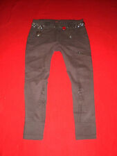 S. Oliver hüftjeans Jeans Skinny 7/8 Army Military blogger w28 tg. 36 NUOVO!!!
