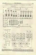 1895 GREAT Northern Luce Elettrica Stazione Holloway piano connessioni CENTRALINO