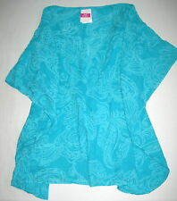 FRESH PRODUCE Turquoise Blue XS SM Mystic Voile Cotton Simple Tunic Top $65 NWT