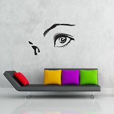 Wall Stickers Vinyl Decal Beautiful Eyes Woman Face z1224
