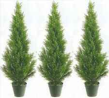 3 CEDAR OUTDOOR 3' TOPIARY TREE UV PLANT ARTIFICIAL BUSH CYPRESS 2 4 6 5 PINE