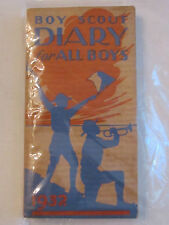"1932 BOY SCOUT DIARY BOOKLET - EXCELLENT CONDITION  -  5 1/4"" X 2 7/8""  -  TUB G"