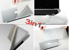"For Apple 2016 MacBook Pro 13"" With touch bar A1706 silver Cover &Palmguard skin"