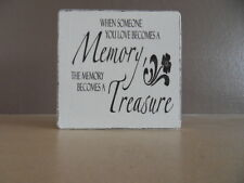 Shabby Inspirational heaven/memory plaque/sign chic and unique