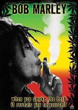 Bob Marley Herb poster! Rasta Reggae Wailers Renowned Exodus Iconic Never Hung