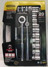 "STANLEY 20-PC 1/2"" Drive Ratchet & Socket Set - NEW!"
