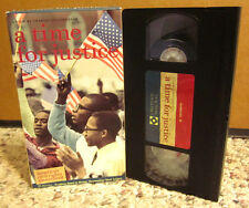 TIME FOR JUSTICE civil rights documentary VHS Montgomery Little Rock Birmingham